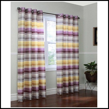 Black And White Wide Horizontal Stripe Curtains Curtains