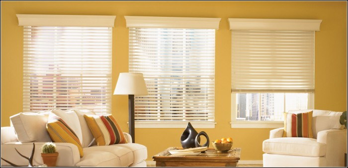 Hang Curtains Over Wood Blinds Curtains Home Design