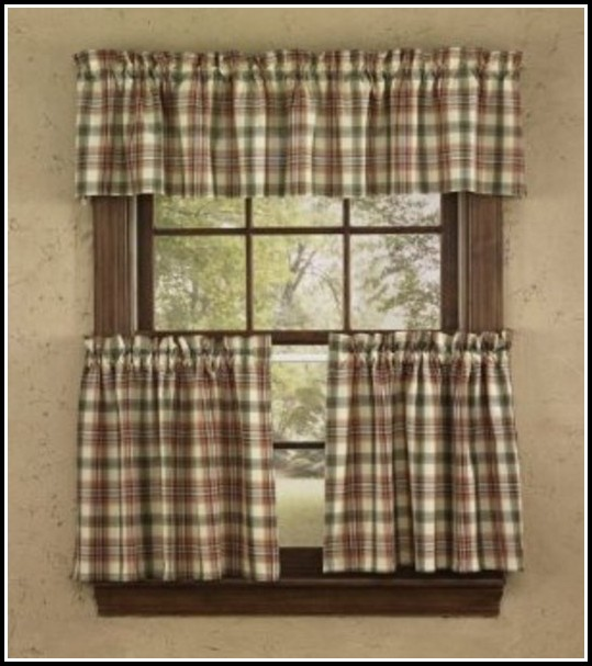 Yellow And Blue Plaid Kitchen Curtains