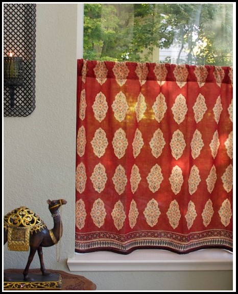 Yellow And Red Plaid Curtains