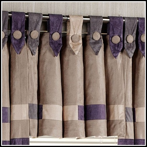 Button Tab Top Curtain Pattern