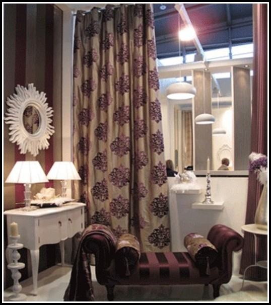 Chocolate Brown And Purple Curtains