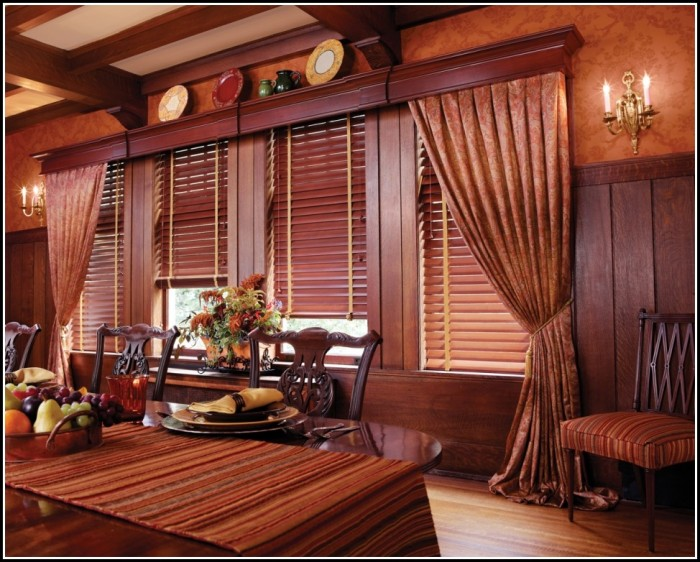 Curtains With Wood Blinds