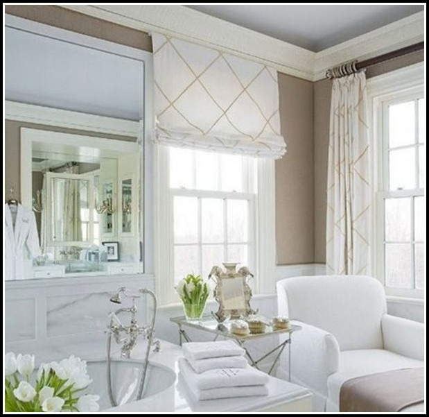 Do You Put Curtains With Roman Shades