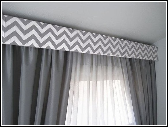 Gray And White Chevron Window Curtains