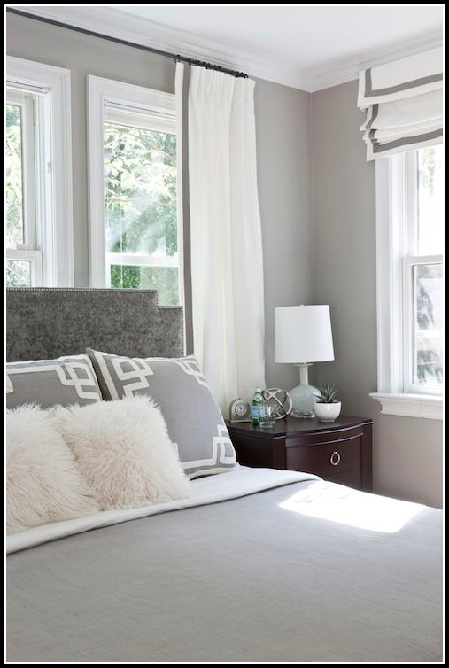 Gray And White Striped Window Curtains