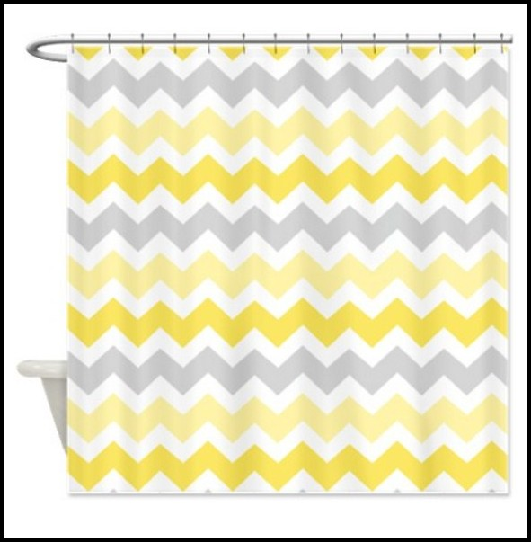 Gray And Yellow Shower Curtain Target