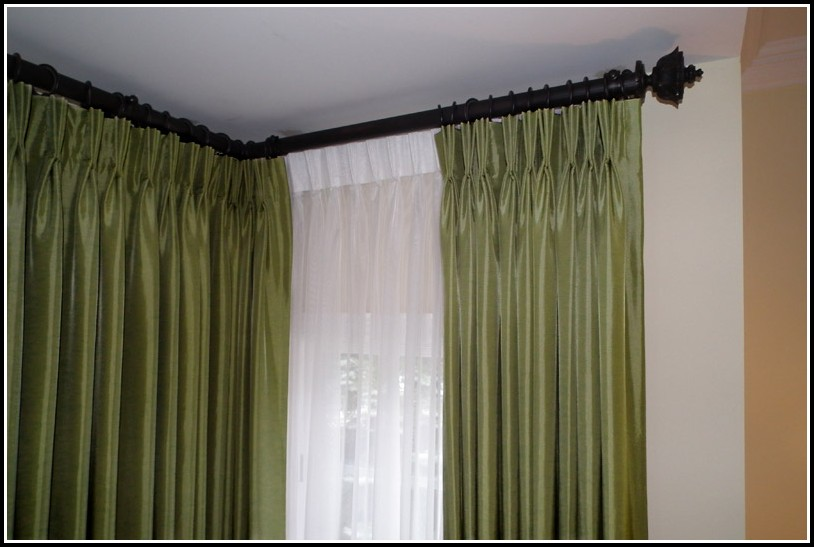 Large Bay Window Curtain Rods Download Page Home Design