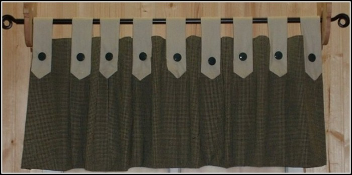 Making Button Tab Top Curtains