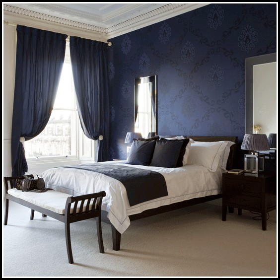 White and blue curtains for bedroom curtains home design ideas 5onekx6q1d29170 for Navy blue curtains for bedroom