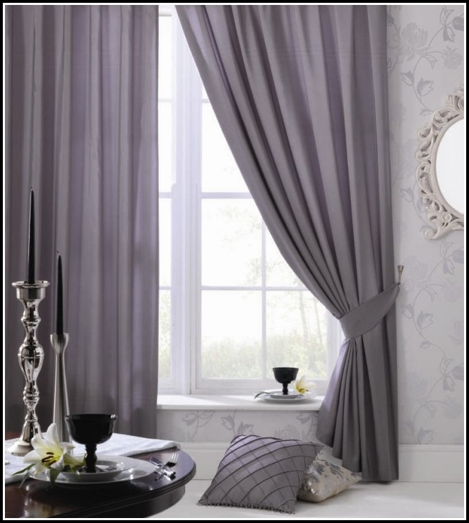 Next Silver Faux Silk Curtains