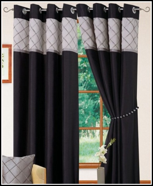 Silver Faux Silk Blackout Curtains