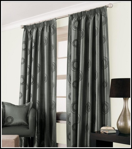 Silver Faux Silk Curtains Uk