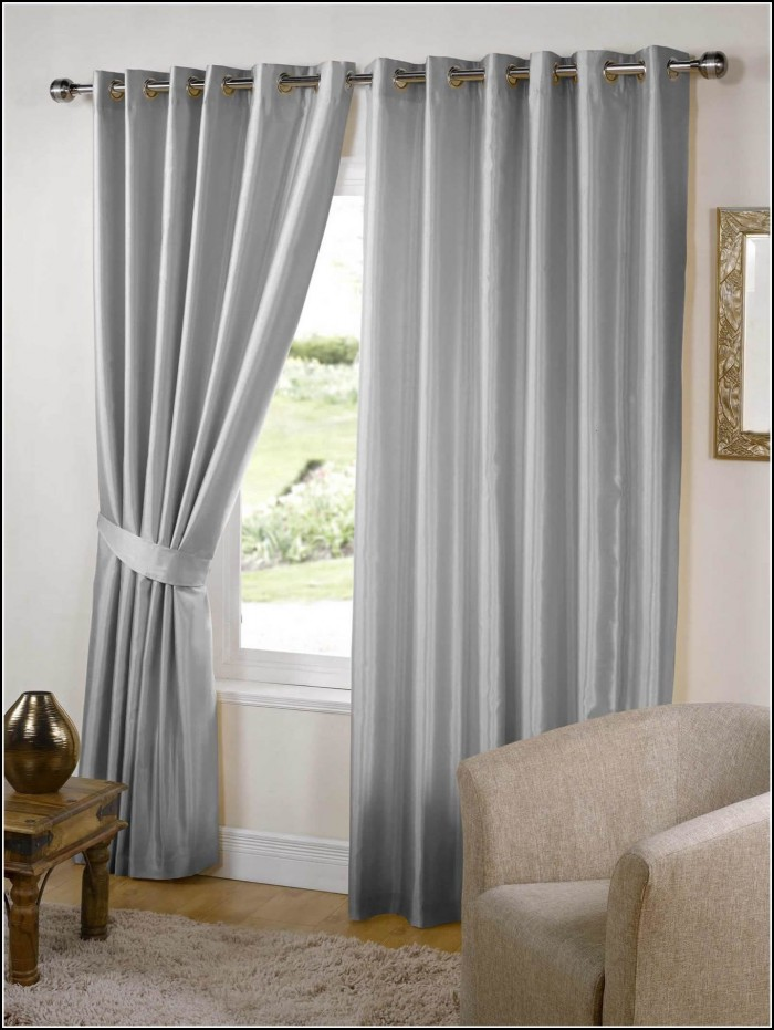 Silver Bedroom Blackout Curtains
