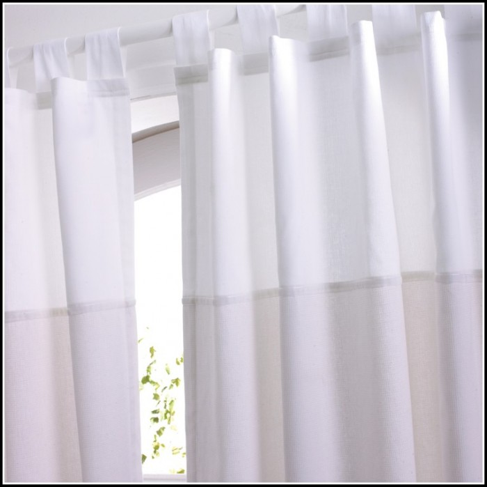 Tab Top Curtains White Cotton