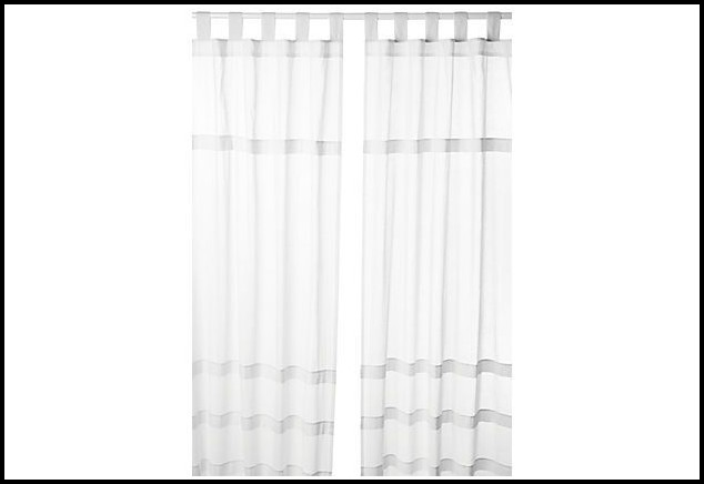 Tab Top White Curtain Panels