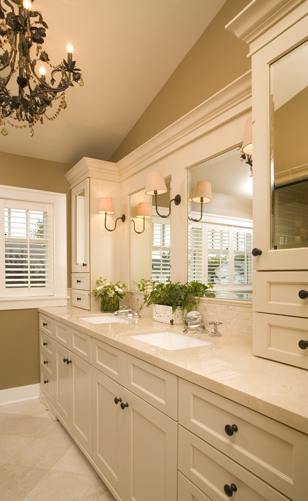 24 Inch White Vanity with Vessel Sink