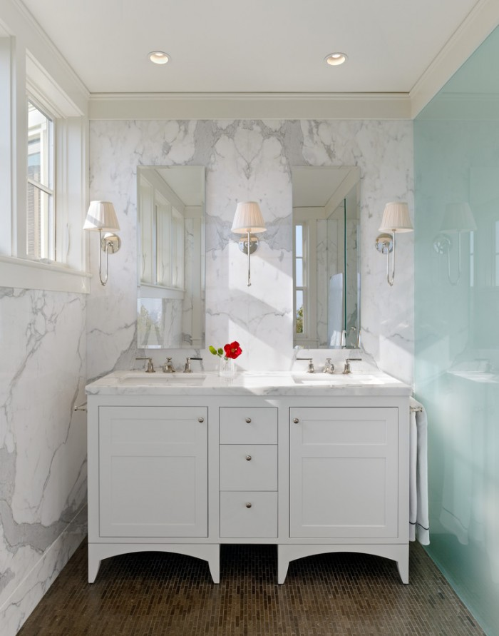 55 Inch Double Sink Vanity White
