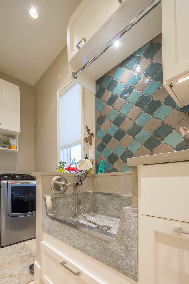 Terrazzo Ware Mop Sink Utility Room Home Design Ideas