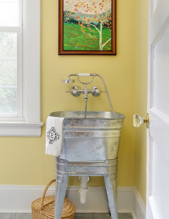 Antique Metal Utility Sink