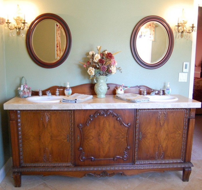 Bathroom Vanity Countertops with Double Sinks