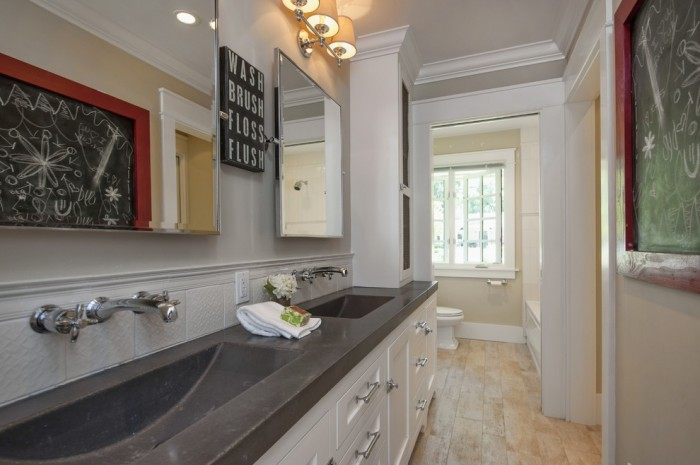 Integrated Sink With Quartz Countertop Bathroom Home Design - Integrated sink countertop bathroom