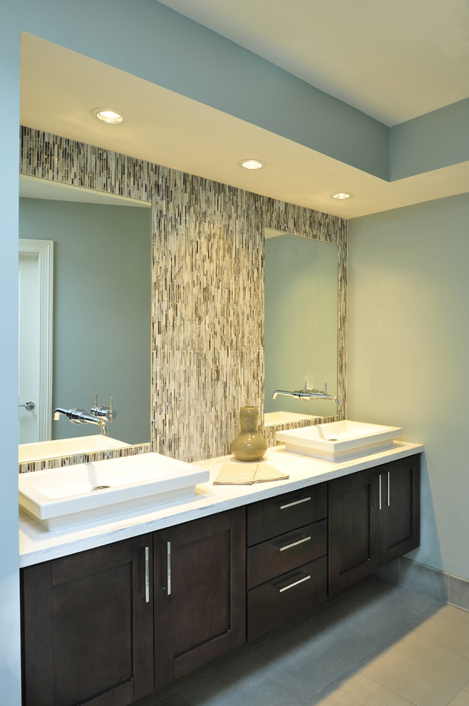 Narrow Double Sink Bathroom Vanity