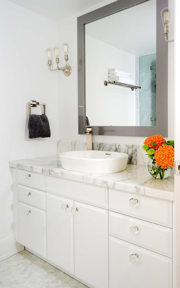 Recessed Glass Vessel Sink