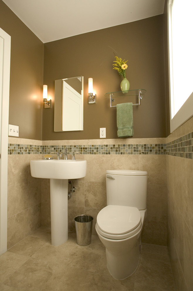 Toto Pedestal Sink with Backsplash