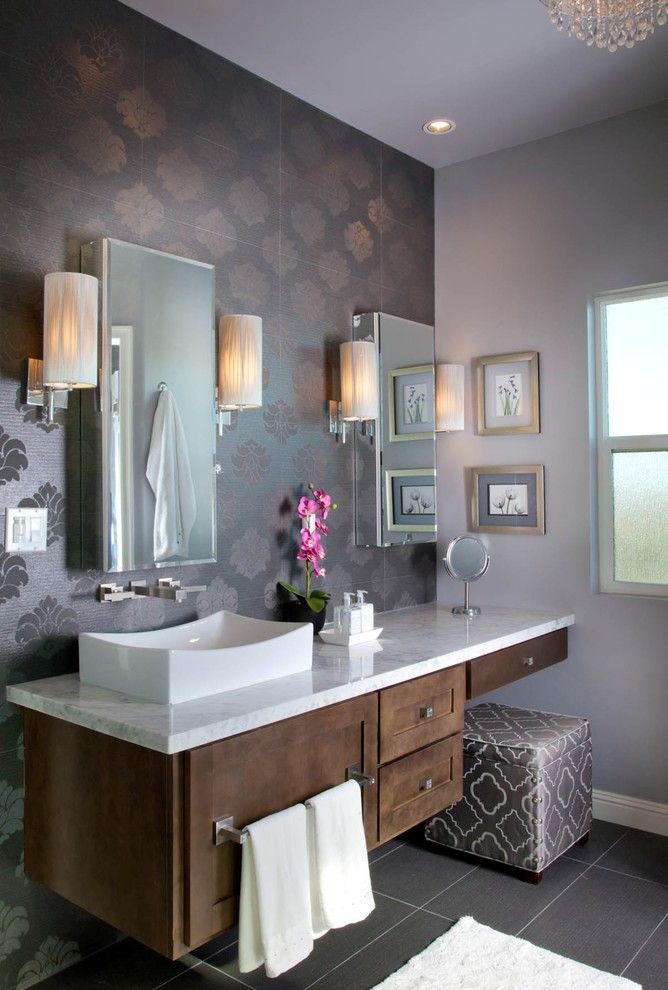 Vanity and Vessel Sink Combo
