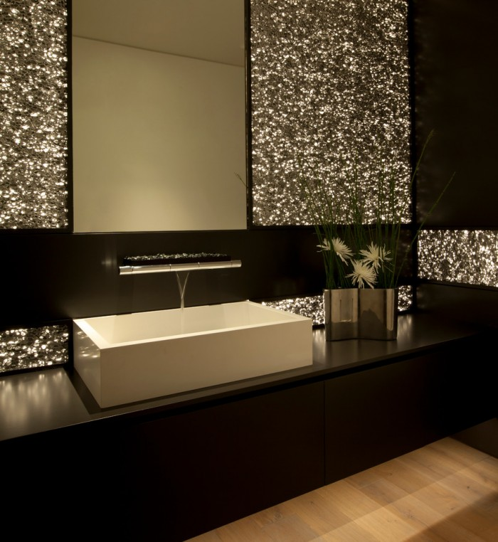Vessel Sinks and Waterfall Faucets