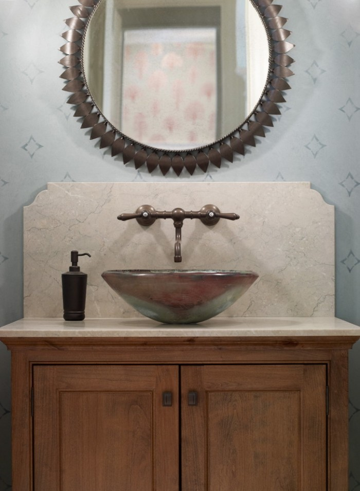 Wall Faucets for Vessel Sinks