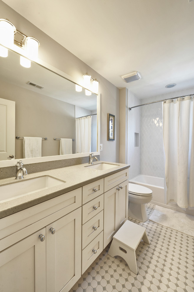 White Square Undermount Bathroom Sink