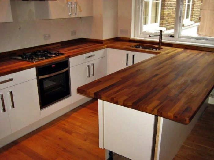 Designing the Butcher Block Countertops