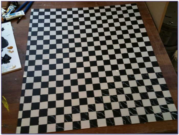 Black And White Checkered Rug Runner
