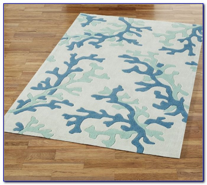 Blue Coral Area Rug