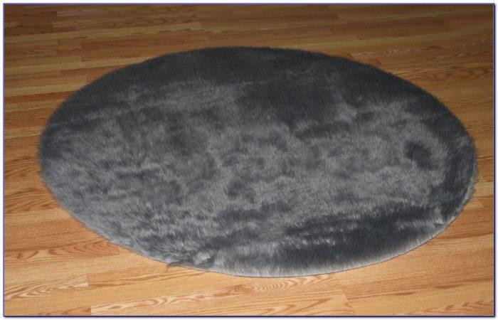 Faux Fur Rug Grey