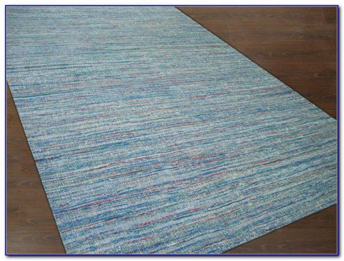 Flat Weave Rug Blue