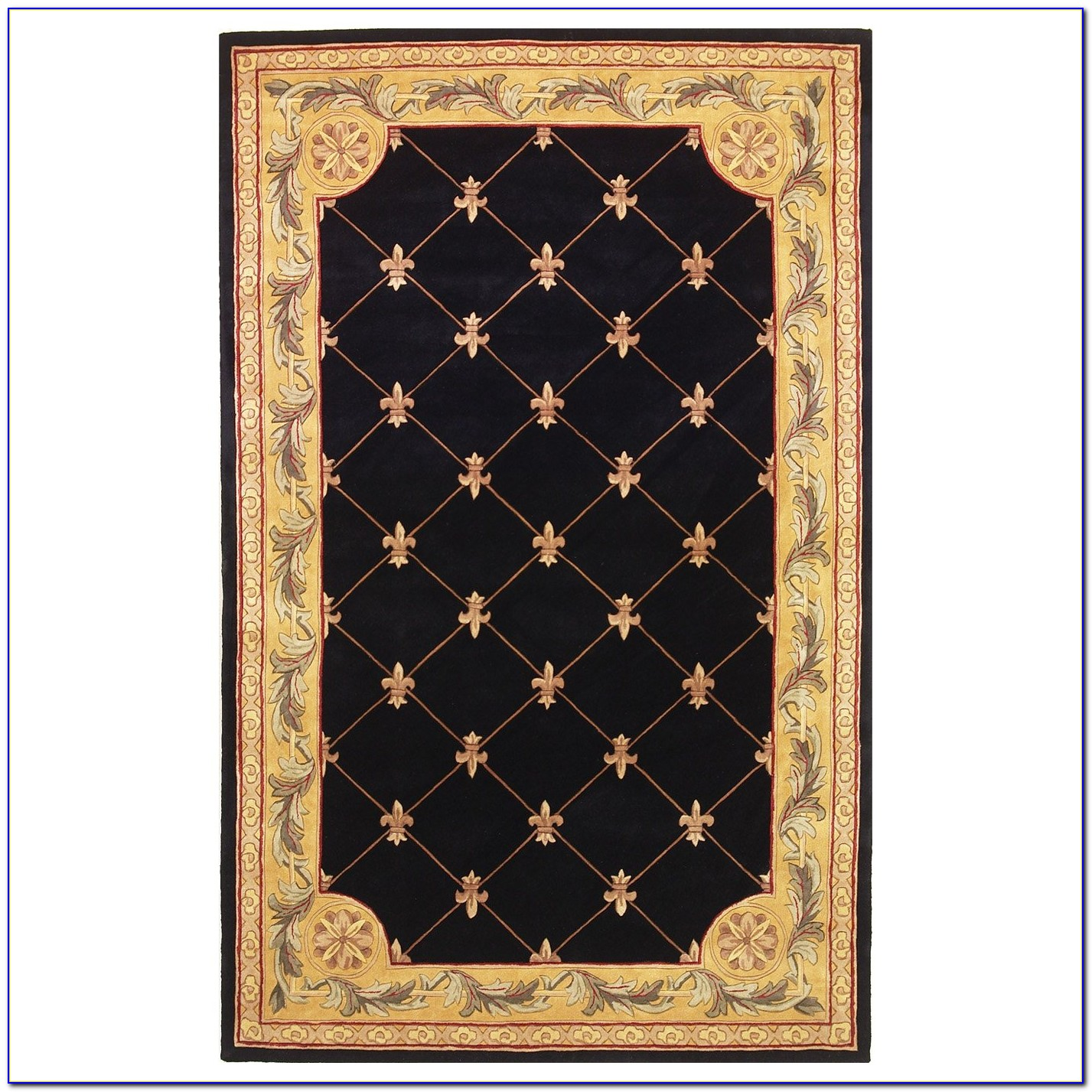 fleur de lis rugs bed bath and beyond rugs home design ideas ewp8y3onyx57362. Black Bedroom Furniture Sets. Home Design Ideas