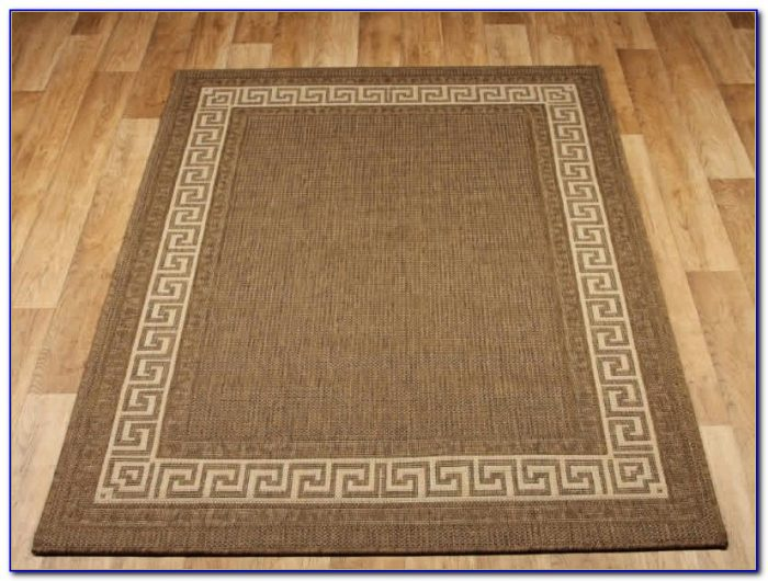 Greek Key Rug Black