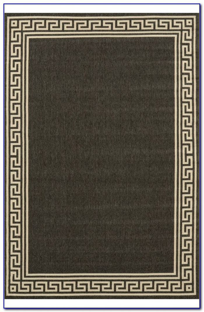 Greek Key Rug Gray