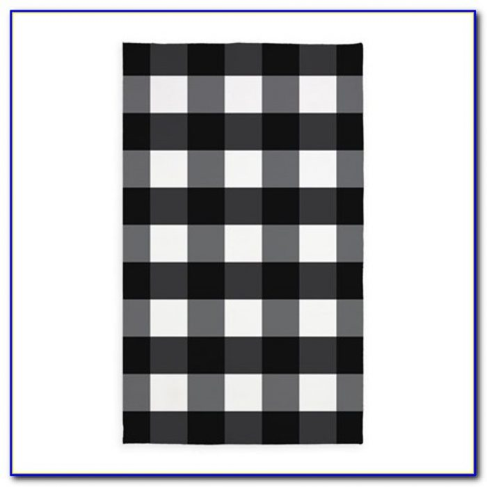 Ikea Black And White Checkered Rug