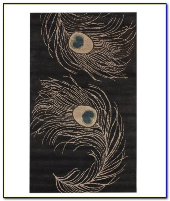 Peacock Themed Area Rugs