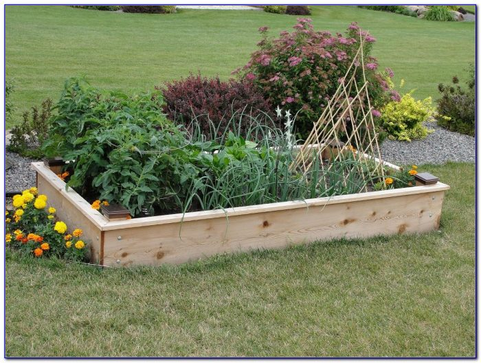 Raised Garden Beds Plans Concrete Blocks