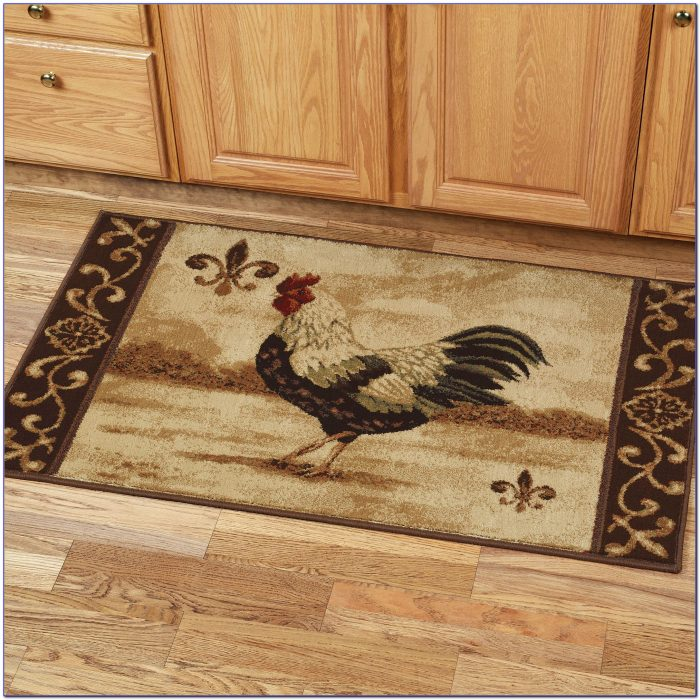 Rooster Themed Kitchen Rugs