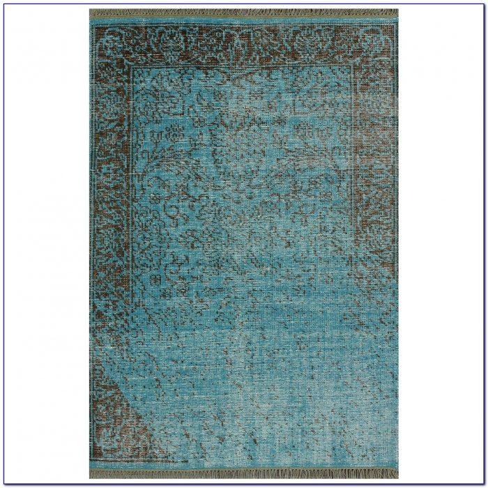 Turquoise Area Rug 3x5