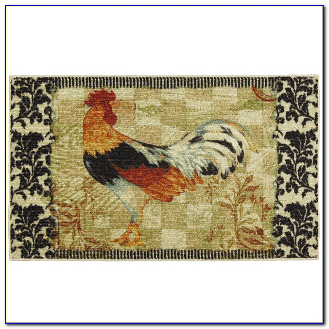 Washable Rooster Kitchen Rugs