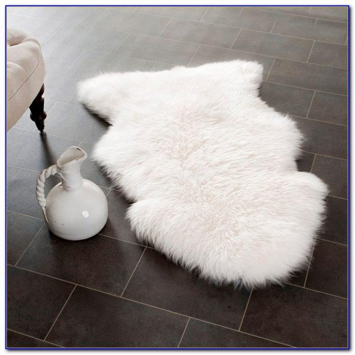 White Sheepskin Rug 8x10
