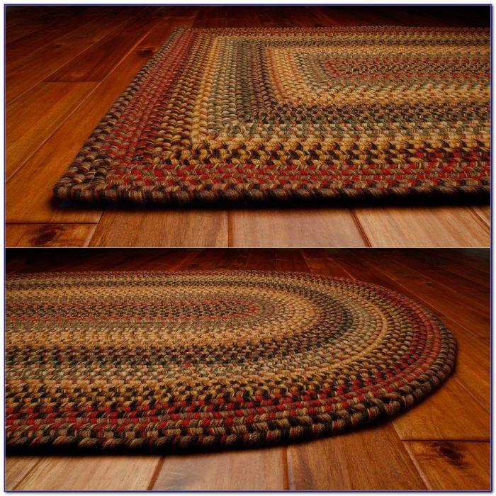 Wool Braided Rugs Oval