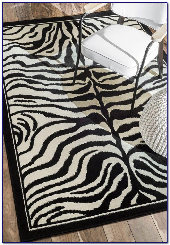 Zebra Print Rug Pottery Barn